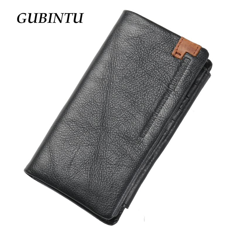 Multifunctional genuine leather wallets classical style men trifold wallet fashion brand purse card holder long clutch<br><br>Aliexpress
