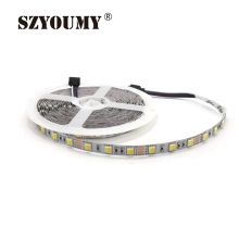 SZYOUMY 20roll 100Metes 2 In 1 Chip Dual Color CCT Adjustable /Dimmable 12V LED Fleixble Strip 5050 White & Warm White DHL UPS