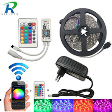 RiRi won SMD RGB LED Strip light 5050 2835 DC 12V Waterproof led light tape diode flexible ribbon WiFi controller adapter set(China)