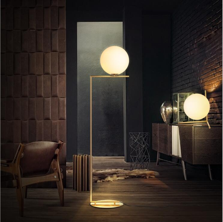 Modern LED Floor Lamp Floor Light Shade Glass Ball Standing Lamp for Bedroom Living Room Gold Designs (11)