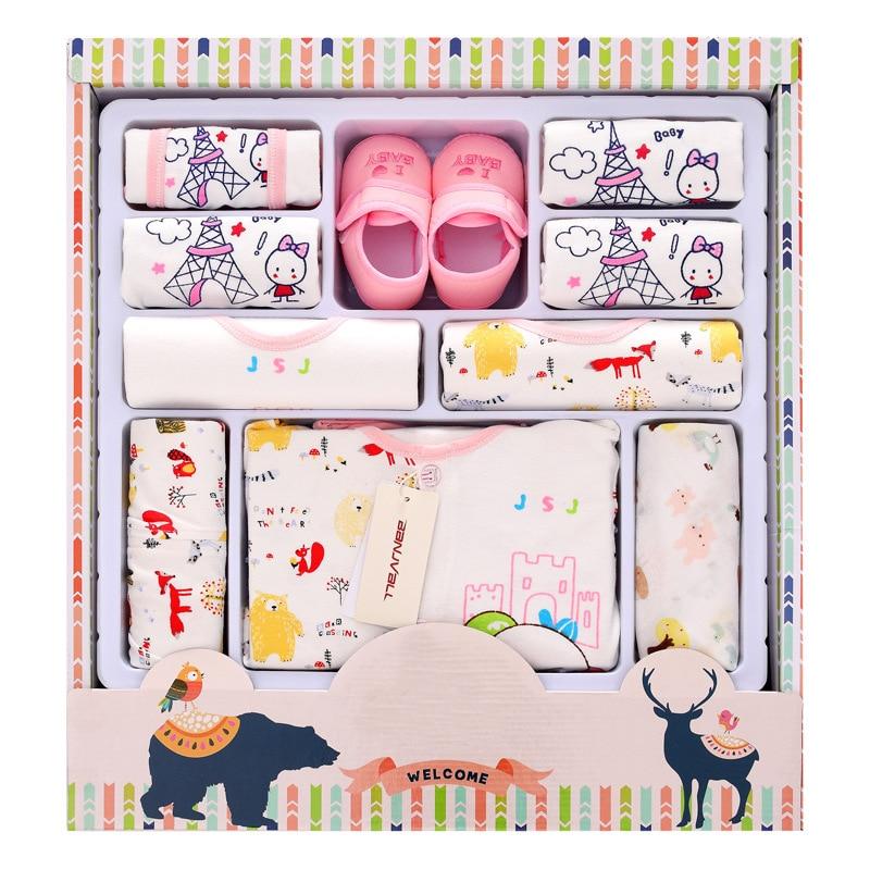 12pcs/Set Newborn baby Clothes Mouth Old Clothing set Cute infant Clothes suit <br>