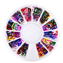 New Alphabet Dazzling Tips Nail Sticker Sequins Colorful DIY Nail Art Decoration manicure nails accessoires maquiagem(China)
