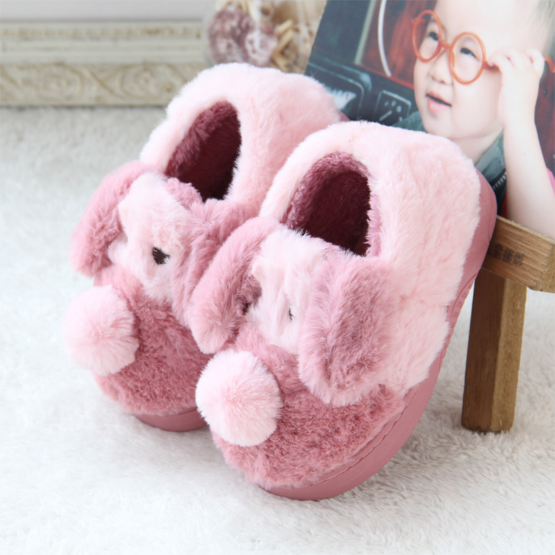 Children Girls Boys Winter Cotton Slippers Shoes Kids Baby Warm Home Slippers Fashion Shoes Cute Warming Velvet Indoor Slippers