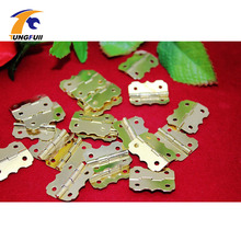 In Stock 40pcs 25*20mm Small hinge closing cabinet hinges butterfly hinge wooden wine box 90 degrees