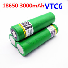 3pcs Liitokala VTC6 battery US18650VTC6 3000mAh 3.7v 30A high drain lithium 18650 rechargeable batteries for Sony e-cigarette