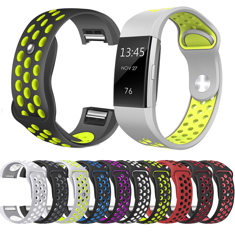 Sports Replacement Soft Silicone Wrist Band Strap For Fitbit Charge 2/HR Sports Safety Wristband Accessories 9 Colors For Chose