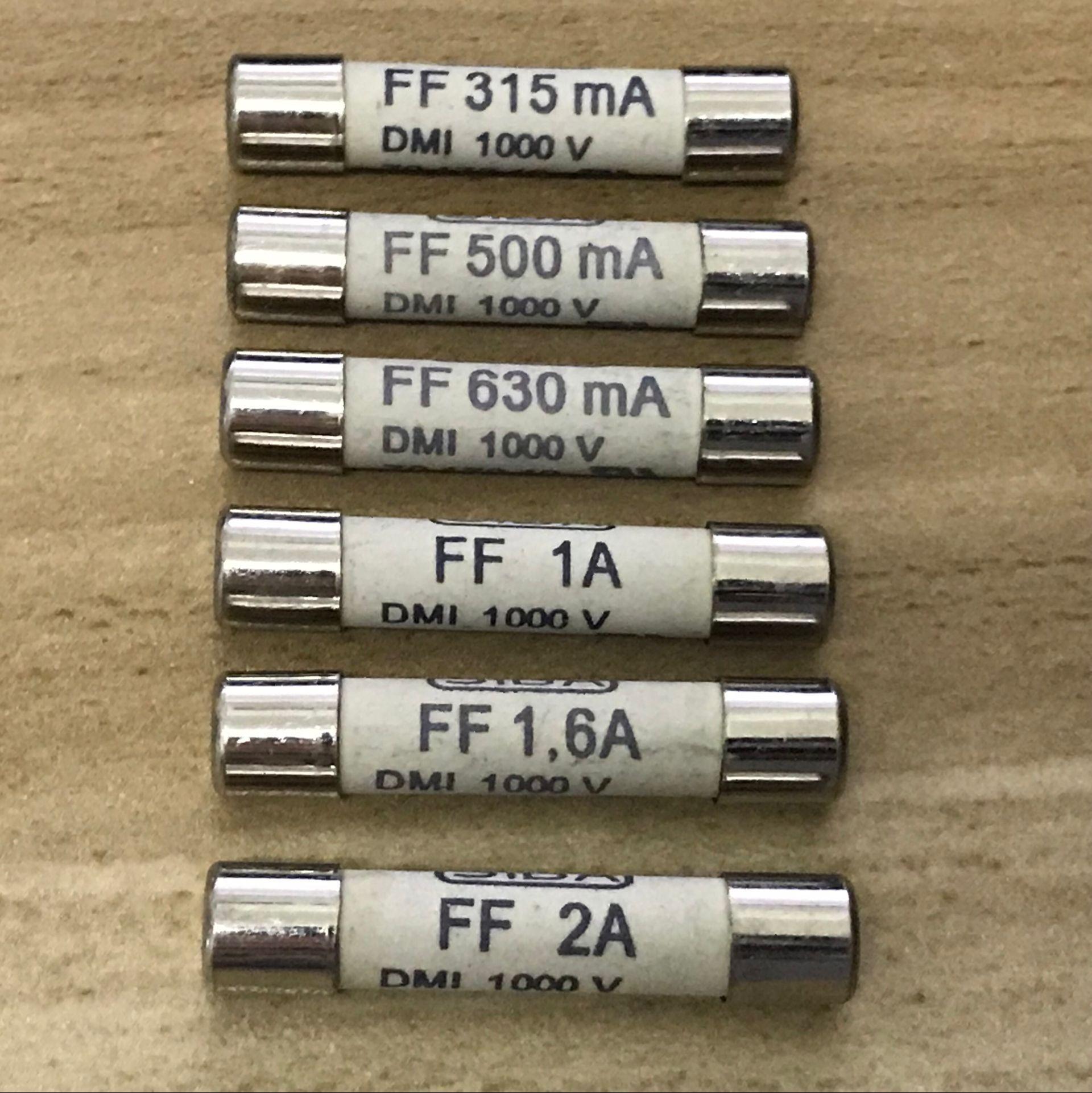 Fusible r/ápido 10/piezas de cristal 6/A//250VAC 6.3/x 32/mm F