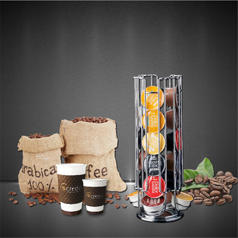 1 Pc Coffee Display Shelves For Coffee Capsule Display Shelf Kitchen Storage Decorative Wall Shelves 24 Cups(China)