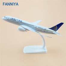 20cm Alloy Metal Air UNITED Airlines Boeing 787 B787 Airways Model Plane Aircraft Airplane Model w Stand Crafts