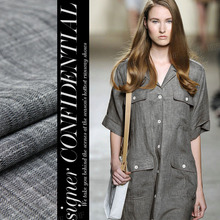 LEO&LIN Elegant Black And Gray Woven Thin Section Of Linen Chinese Cotton And Linen Dress Dress Clothing Wholesale Skirt Fabric