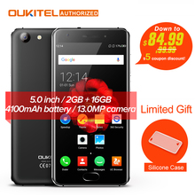 NEW! OUKITEL K4000 Plus 4G Mobile Phone 5'' Android 6.0 MTK6737 Quad Core 1.3GHz 2GB RAM 16GB ROM 13.0MP+5.0MP 4100mAh Touch TD