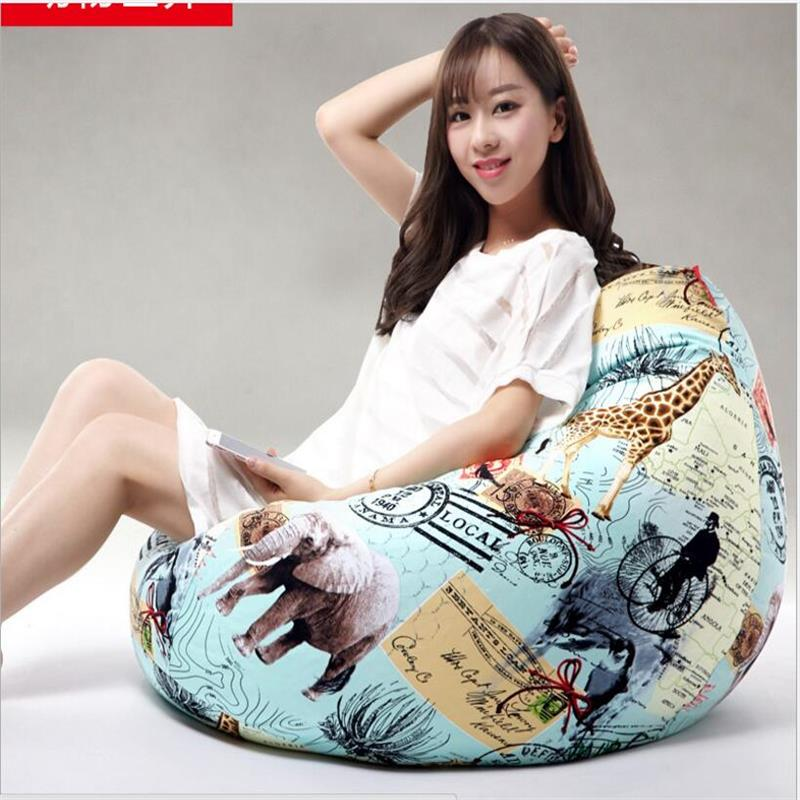 Ywxuege animal wor   Tetris geometry Bean Bag Sofa  medium  Linen Cotton Soft Sofa wholesale  Living Room Sofas Bed Suit For Bed<br>