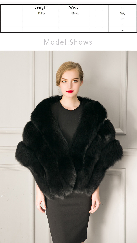 2018 Hcyo Korean version of the imitation of rabbit fur shawl imitation water mane fur grass cloak vest women's coat (1)