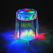LED Light Flashing Cup Small Beer bar Mug Drink Cup octagonal Nightclub For Parties Wedding Clubs Christmas halloween decor(China)