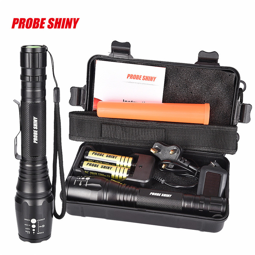Super G700 X800 CREE XML T6 LED Zoom Tactical Military Flashlight Super Torch Set 170207<br><br>Aliexpress