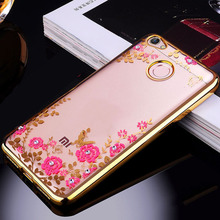 Buy Xiaomi Redmi Note 5A Prime 32gb 64gb Case Bling Flowers Crystal Rose Gold Plating Soft Silicone Back Cover Phone Cases Funda for $1.99 in AliExpress store