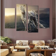 Free shipping Abstract Painting Canvas HD large image Horse Picture printed on canvas Home Decoration For Living Room wall art