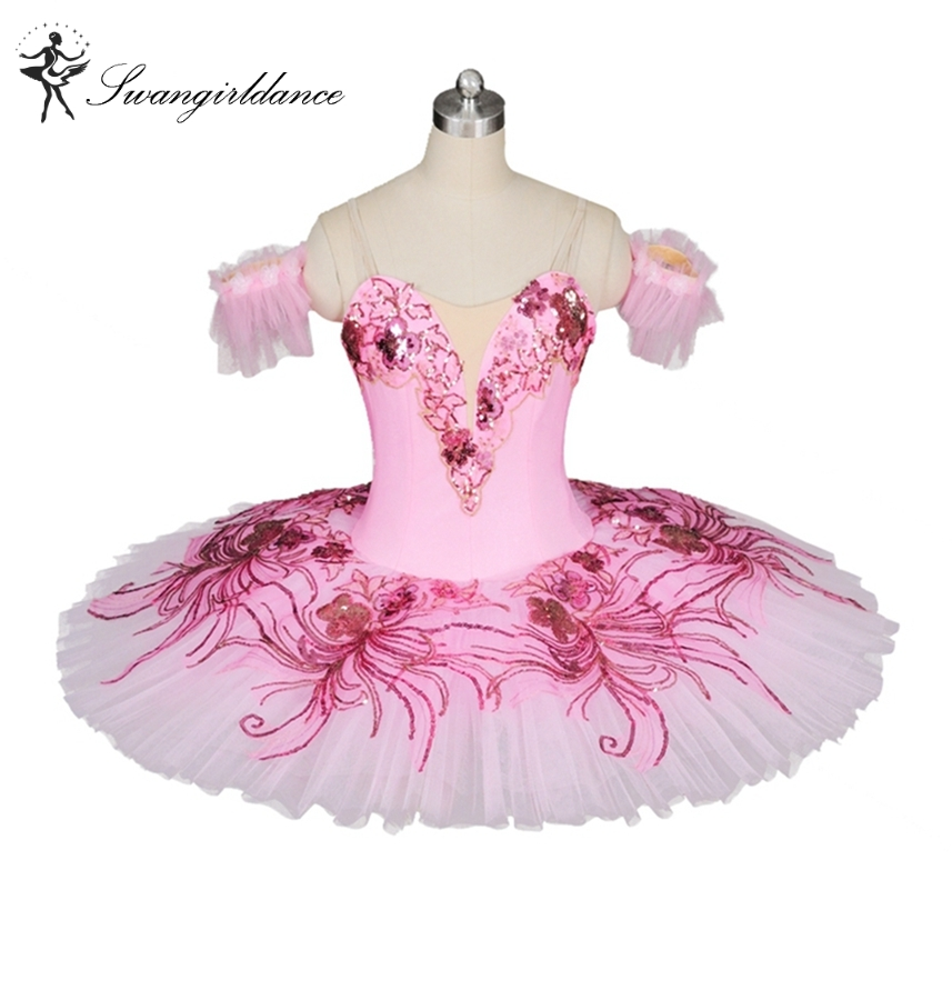 Pink peach Professional ballet tutus women classical ballet tutu adult platter performance tutu pancake girls nutcracker BT8979