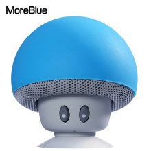 MoreBlue Q-60 Mini Wireless Bluetooth Mushroom Holder Bass Music Speaker Mobile Portable Cute Loudspeaker Phone Stand Player