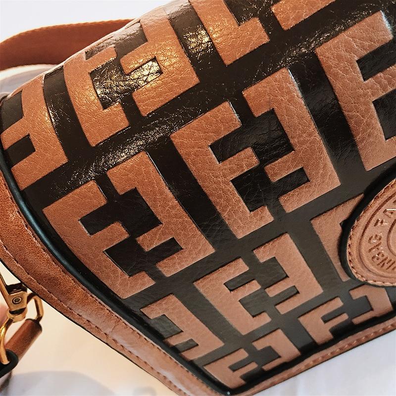 2019 Of The Small Square Fashion Women's vintage Shoulder Bag Shoulder Bag Messenger Bag Mobile Phone Bag Brand original design 33 Online shopping Bangladesh