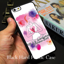 Yoga Womens Health Black Phone Case for iPhone 5S 5 SE 5C 4 4S 6 6S 7 Plus Cover ( Soft TPU / Hard Plastic for Choice )