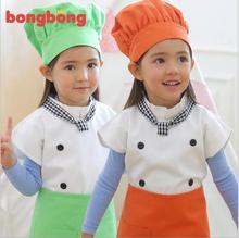Children Apron Kit Bowknots Child Chef Apron Suits Enfant Kindergarten Cleaning Painting Drawing Performance Kids School Aprons