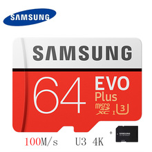 SAMSUNG Micro SD Card 32gb 64gb 16gb 128gb 256gb 100Mb/s Flash Memory Card TF Card with Mini SDHC SDXC Class10 U3 Free Adapter(China)
