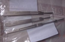5pcs Various stainless steel medical surgical knife handle JZ 3 4 7 # blade pls note us which size you need(China)