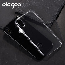 Oicgoo Transparent Protection Full Cover Case For iPhone X Phone Cases Ultra Thin Silicone Soft TPU For iphone x Clear Silm Case