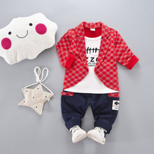 Spring Autumn Baby Boys Girls Formal Clothing Sets Toddler Fashion Clothes Children T-shirt Pants 2Pcs Suits Kids Tracksuits(China)