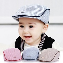Brand New Caps Cute Infant Baseball Cap Baby Hat Stripe Beret Fashion(China)
