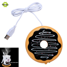 Creative Silicone Donut Desktop Tea Coffee Cup Mug USB Warmer Mat Heater USB Heat Preservation Mat Warm Keep Drink Warm 45-55C(China)