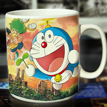 New Doraemon Ceramic Coffee Mug White Color Or Color Changed Cup Giant Altar---Loveful