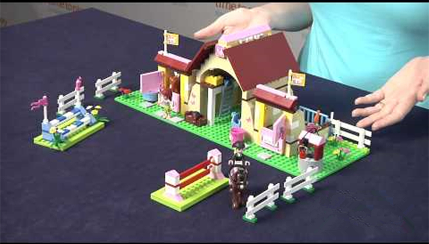 10163 Friends Heartlake Stables horse house model Building Blocks bricks 3189 compatible legoes Friends gift Kids set toys girl <br>