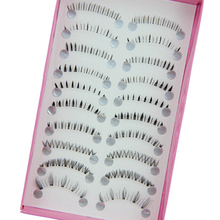 2016 Top Quality 10 Pairs Different Styles Black Lower Under Bottom Eye Lashes Extension False Eyelashes 8AU4
