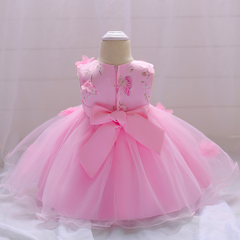 2018 Baby Girl Dress Summer Flower Infant Princess Wedding Dress Newborn 1 Year Birthday Party Dresses Baby Christening Clothes (7)