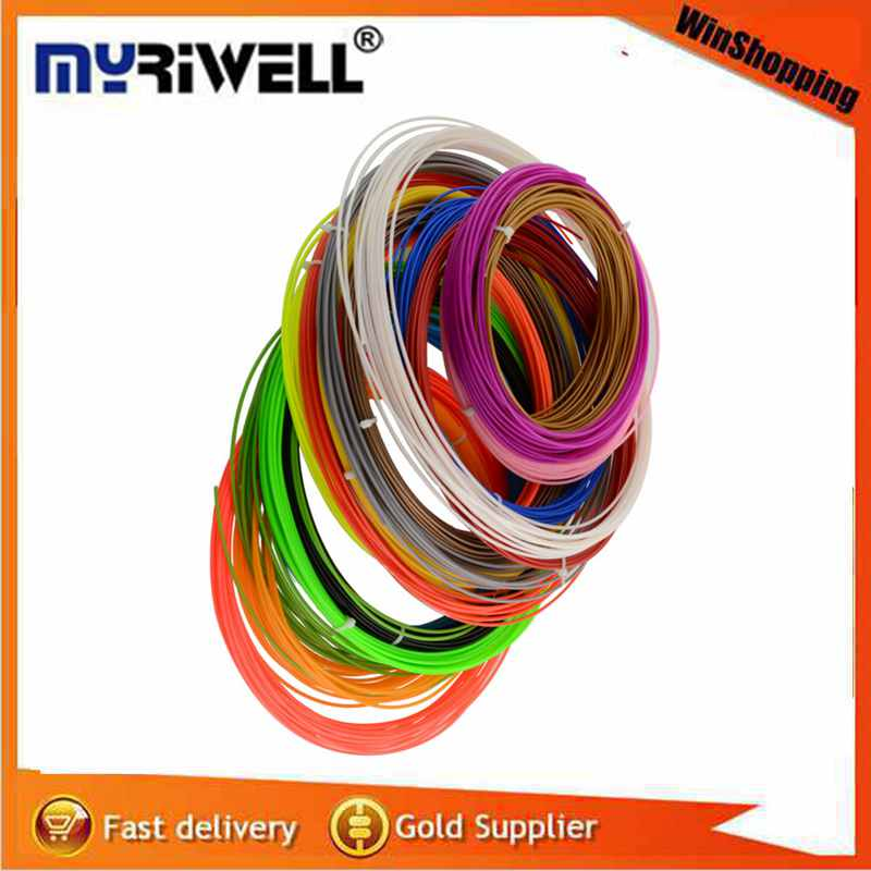 Free shipping Colorfully 20 pcs 100M Long ABS 3D P...