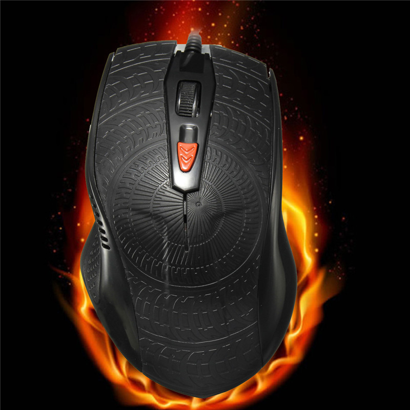 USB Wired Black Gaming Mouse 3 Level Adjustable DPI Optical Computer Game Mouse With 4 Mice Buttons For PC Laptop Gamer