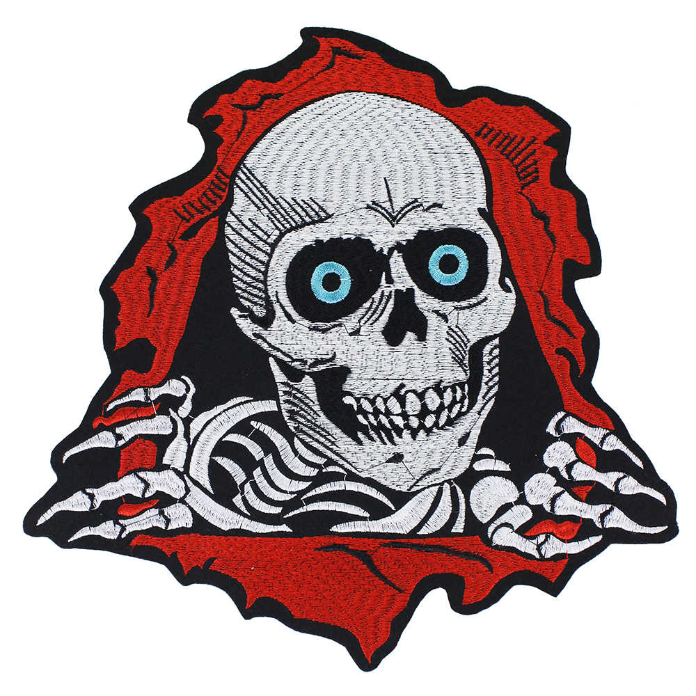 Biker Back Patches Nightmare Skeleton Motorcycle Patch