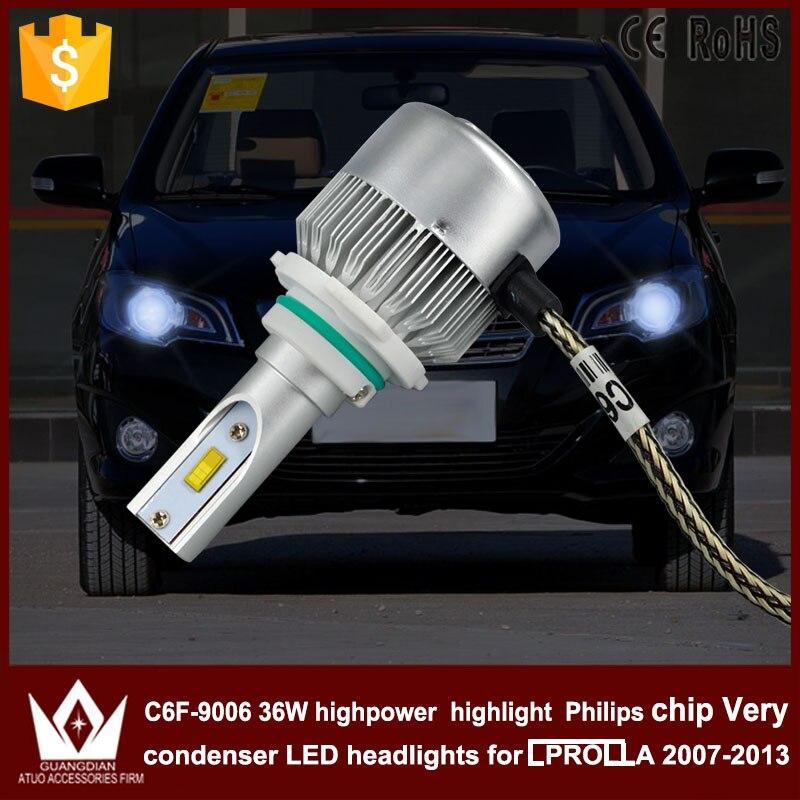Guang Dian car led light 9006 Headlight Head lamp HB4 low BEAM Dipped beam C6F 6000K white for -T-O-Y-O-T-A- Corolla 2007-2013<br><br>Aliexpress