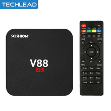 V88/V88 Plus 4K Android 5.1 Smart TV Box Rockchip 3229 1G/8G 2G/8G 4K*2K Quad Core Media Player HD DLAN Mini PC 4 USB PORT(China)
