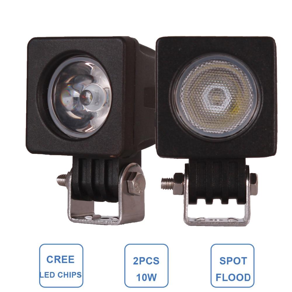 2pcs 10W Offroad LED Work Light Car Auto SUV Truck Motorcycle 12V 24V Headlight Spot Flood AWD 4WD ATV Trailer Bicycle Fog Lamp<br><br>Aliexpress