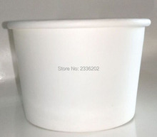 Low MOQ Food Grade PE Coated Paper Bowl Icecream Bowl White Color and Custom Logo Printing