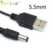 10piece USB 2.0 A Type Male To DC5.5mm*2.1mm,USD to DC5.5 Power Plug Barrel Connector 5V Cable 12 Copper core 80cm length