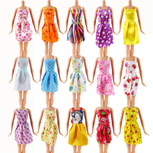 Random 12 PCS Mixed Sorts Barbie Doll Fashion Clothes Beautiful Handmade Doll Party Dress For Barbie Dolls Girl Gift Kid's Toy(China)