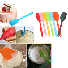 Cake Cream Butter Spatula Mixing Batter Scraper Baking Tool Silicone Baking Spatula Red/Blue/Green/Yellow/Pink/Black/Orange(China)