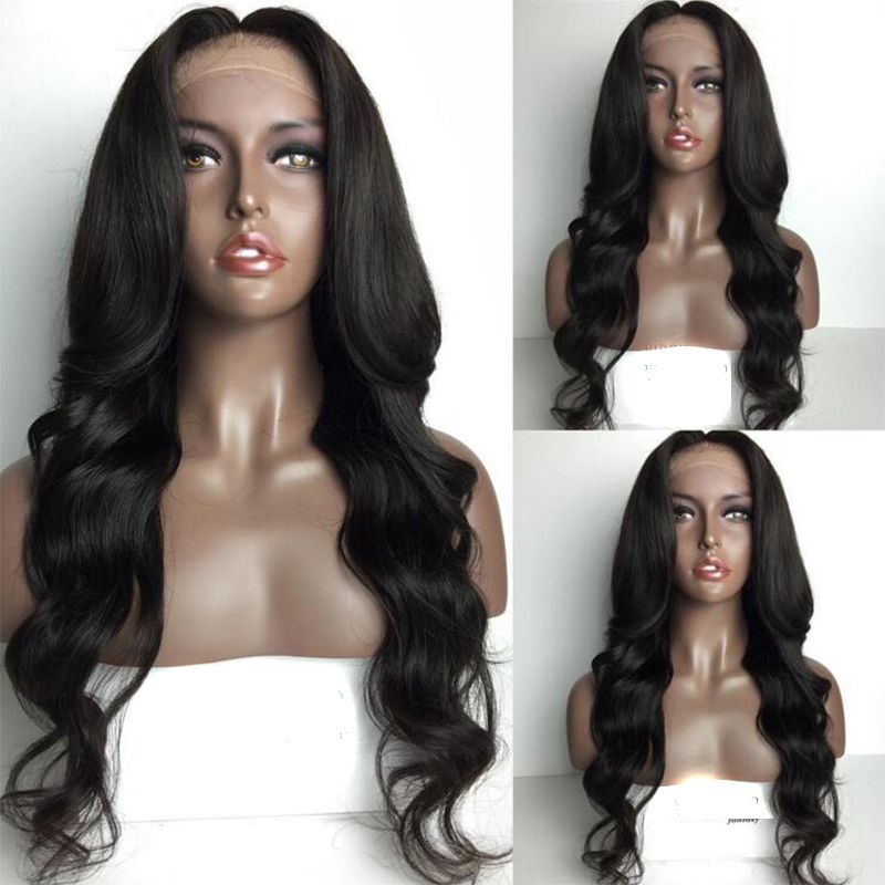 8A Long Virgin Peruvian Human Hair Full Lace Wigs Bleach knots Lace wigs wavy Glueless Lace Front Wigs for black women<br><br>Aliexpress