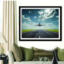 DIY 5D Diamond Mosaic scenery handmade Diamond Painting Cross Stitch Kits Diamond Embroidery Patterns Rhinestones Airport Plane