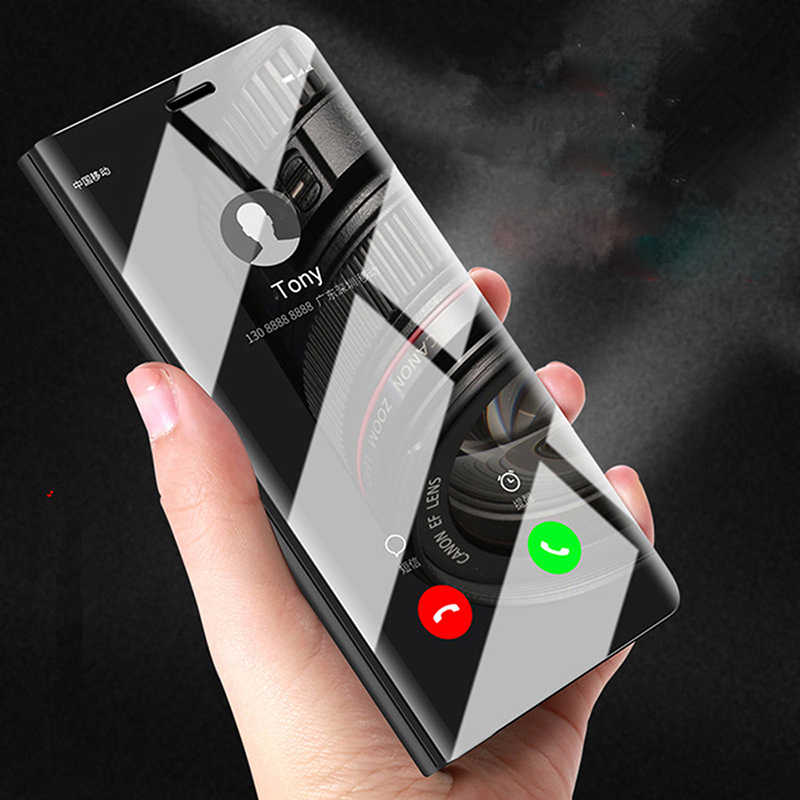 Magnetic Flip Cover For Xiaomi Mi 8 SE Max3 A1 A2 5X 6X Pocophone F1 Mi8 Dirt Resistant Luxury Mirror Plastic Phone Case Fundas