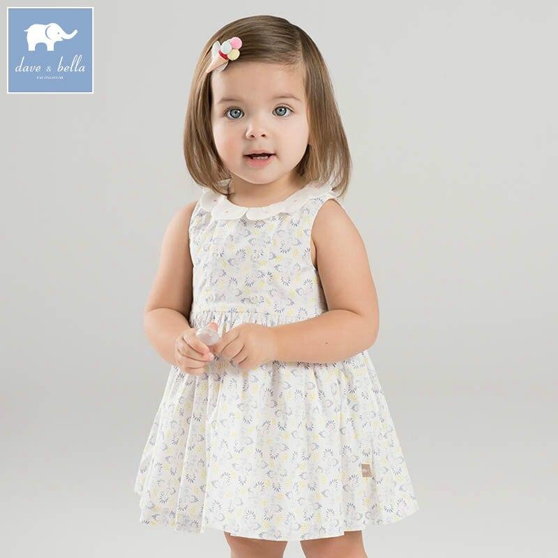DBZ7252 dave bella summer infant baby girls princess dress floral birthday wedding party dress toddler children clothes <br>